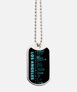 Digital Cityscape: Los Angeles, California Dog Tag
