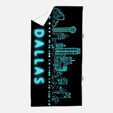 Digital Cityscape: Dallas, Texas Beach Towel
