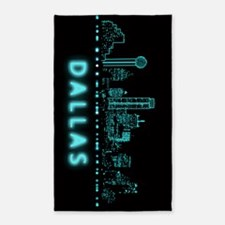Digital Cityscape: Dallas, Texas Area Rug