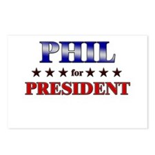 PHIL for president Postcards (Package of 8)