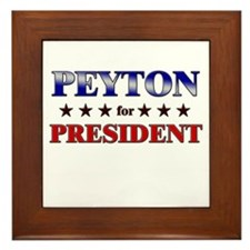 PEYTON for president Framed Tile