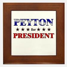 PEYTON for president Framed Tile
