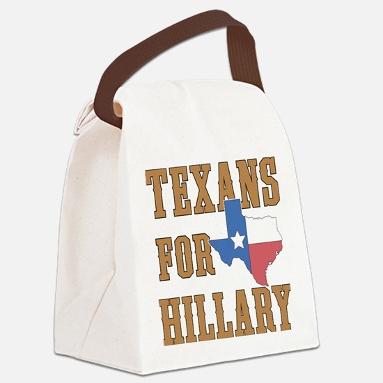 Texans for Hillary Canvas Lunch Bag