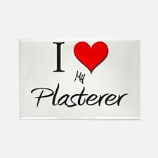 I Love My Plasterer Rectangle Magnet