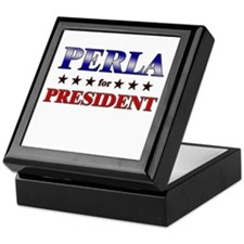 PERLA for president Keepsake Box