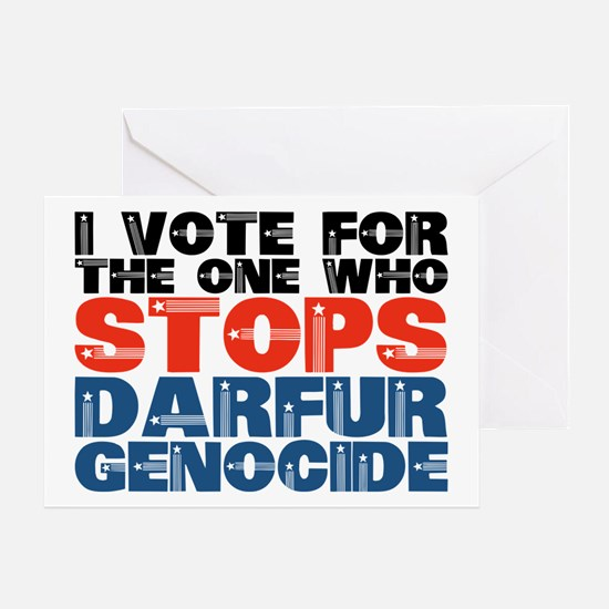 VOTE FOR DARFUR Greeting or Christmas Card