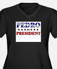 PEDRO for president Women's Plus Size V-Neck Dark