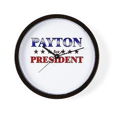 PAYTON for president Wall Clock
