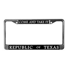 Republic Of Texas License Plate Frame