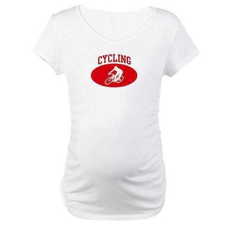 Cycling (red circle) Maternity T-Shirt