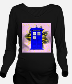 British Police Box W Long Sleeve Maternity T-Shirt