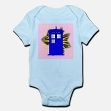 British Police Box With Abstract Explosi Body Suit
