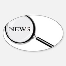 News Magnifying Glass Decal