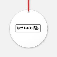 Speed Cameras Round Ornament