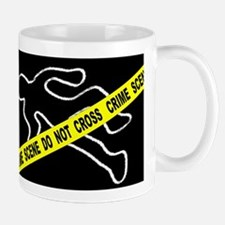 Crime Scene Chalk Mark Mugs