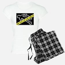 Crime Scene Chalk Mark pajamas