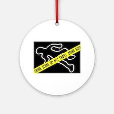 Crime Scene Chalk Mark Round Ornament