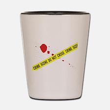 Crime Scene Do Not Cross Shot Glass