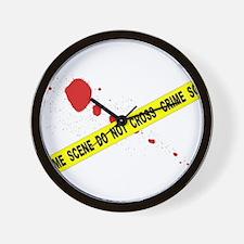 Crime Scene Do Not Cross Wall Clock