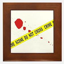 Crime Scene Do Not Cross Framed Tile