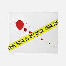 Crime Scene Do Not Cross Throw Blanket