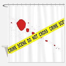 Crime Scene Do Not Cross Shower Curtain