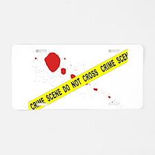 Crime Scene Do Not Cross Aluminum License Plate
