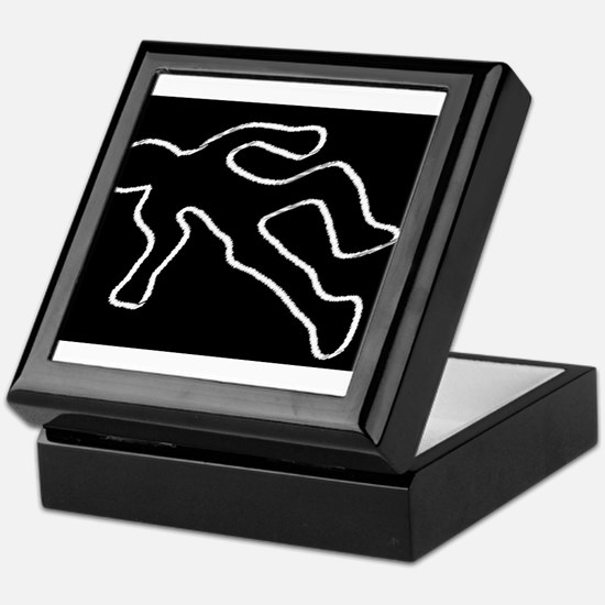 Crime Scene Chalk Outline Keepsake Box