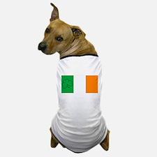 Irish Flag With Shamrock Outline Dog T-Shirt