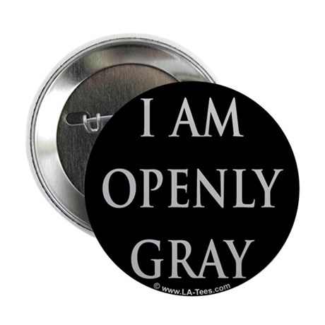 """OPENLY GRAY 2.25"""" Button (100 pack)"""