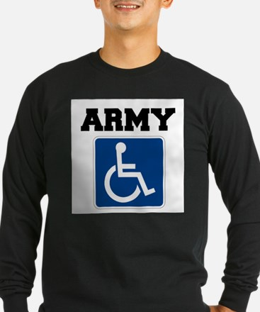 Army Handicapped Disabled Long Sleeve T-Shirt