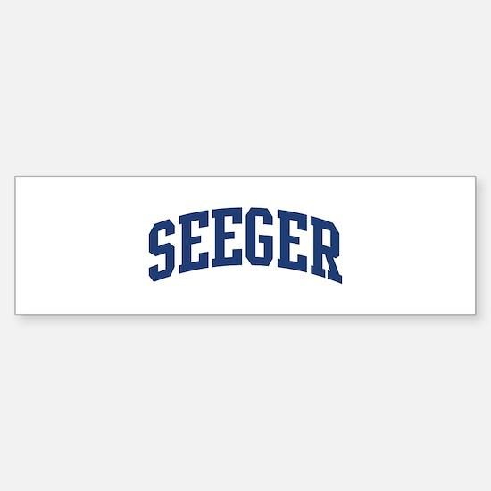 SEEGER design (blue) Bumper Bumper Bumper Sticker