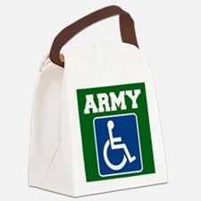 Army Handicapped Disabled Canvas Lunch Bag