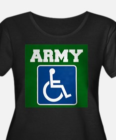 Army Handicapped Disabled Plus Size T-Shirt