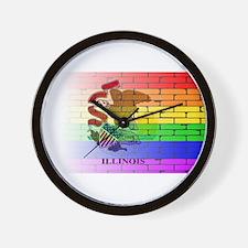 Rainbow Wall Illinois Wall Clock