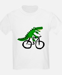 Alligator Riding Bicycle T-Shirt