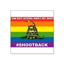 Rainbow Gadsden Shot-Back Sticker