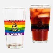 Rainbow Gadsden Shot-Back Drinking Glass