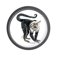 White-Faced Monkey Wall Clock
