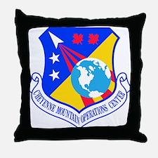 Cheyenne Mtn Ops Ctr Crest Throw Pillow
