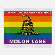 Rainbow Gadsden Shot Labe 2 Throw Blanket