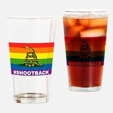 Rainbow Gadsden S-B Drinking Glass