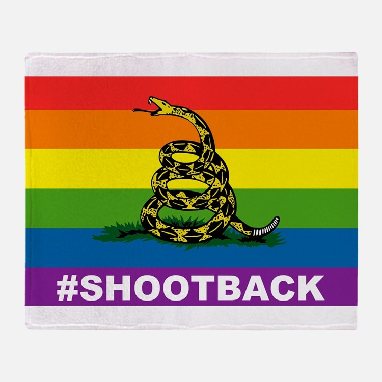 Rainbow Gadsden S-B Throw Blanket
