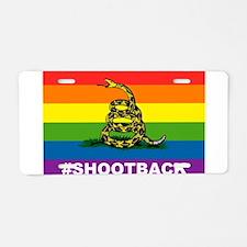 Rainbow Gadsden S-B Aluminum License Plate