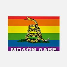 Rainbow Gadsden Labe Magnets