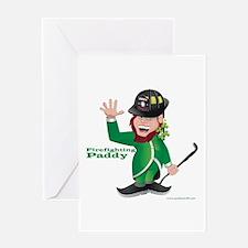 Firefighting Paddy Greeting Card
