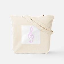 Retro Hot Pink Treble Clef Tote Bag