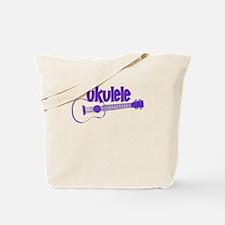 Purple Ukulele Tote Bag