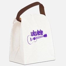 Purple Ukulele Canvas Lunch Bag