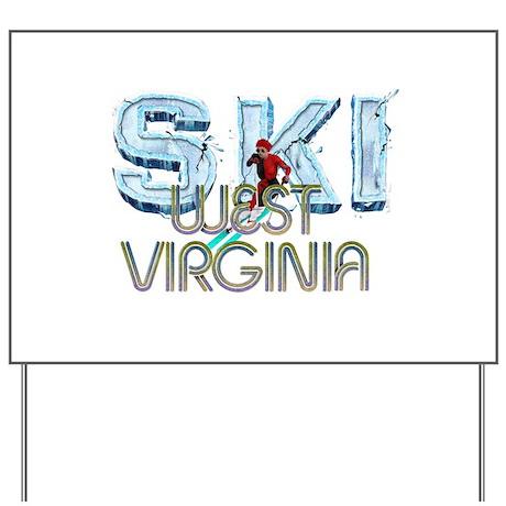 TOP West Virginia Skier Yard Sign